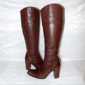 Charles David Leather Knee High Boots
